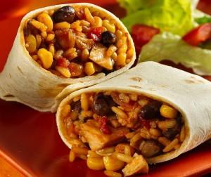 Chicken Bean Burrito